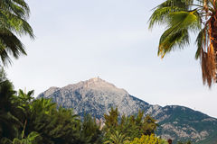 View of the Mount Tahtali, located near Kemer,Turkey. Stock Photography