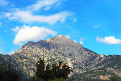 View of the Mount Tahtali, located near Kemer,Turkey. Stock Images