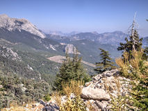 View from Mount Tahtali, Turkey Royalty Free Stock Image