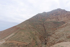 View the Mount of Temptation in Jericho. Royalty Free Stock Photos