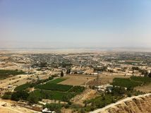 View from Mount of Temptation. Jeriho Stock Photos
