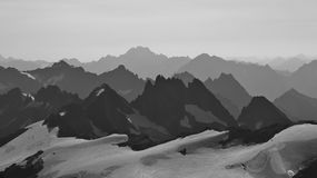 View from mount Titlis towards mount Oberalpstock Royalty Free Stock Images