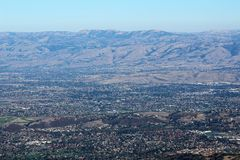 View from Mount Umunhan. Mount Umunhum Royalty Free Stock Image