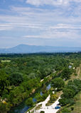 View of Mount Ventoux from Avignon Stock Photography