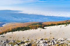 View from the Mount Ventoux, France Royalty Free Stock Images
