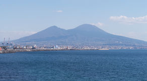 View of Mount Vesuvius from Naples Royalty Free Stock Image