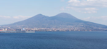 View of Mount Vesuvius from Naples Royalty Free Stock Photos