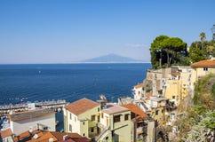 View of Mount Vesuvius from Sorrento  2 Royalty Free Stock Photo
