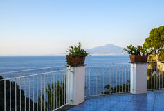 View of Mount Vesuvius from Sorrento Italy Royalty Free Stock Photography