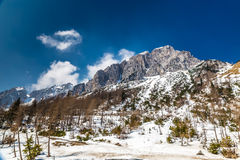 View Of Mount Vrsic From Vrsic Pass-Slovenia Stock Images