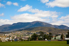 View of Mount Wellington. From Hobart city royalty free stock image