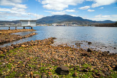 View of Mount Wellington. From Hobart city royalty free stock photography