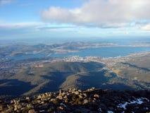 View from Mount Wellington. In Tasmania, Australia Stock Image