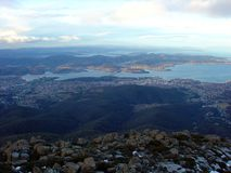 View from Mount Wellington, Tasmania, Australia Stock Photography