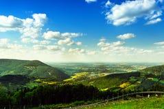 View from mountain. In Beskid Zywiecki, Poland Stock Photo