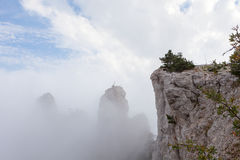 View of the mountain Ah-Petri in clouds,  Crimea Stock Photos