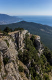 View from mountain Ai Petri near Yalta. Ukraine royalty free stock photography