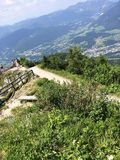 View from mountain in Austria. Hiking in Austria Royalty Free Stock Image