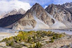 Passu in upper Hunza, Pakistan royalty free stock image