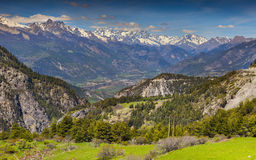 View of the mountain Barre des �crins. Royalty Free Stock Photography