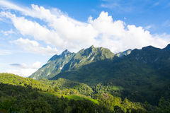 View of mountain and blue sky Royalty Free Stock Images