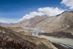View of mountain and blue sky in Nubra valley, Leh Stock Photography