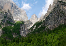 View of the mountain Brenta. Dolomites Italy Royalty Free Stock Photography