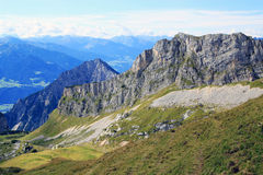 View on mountain chain in the alps (rofan) Royalty Free Stock Photos