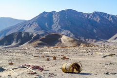 View of mountain and desert Stock Image