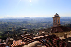 View of the mountain district in San Marino Royalty Free Stock Photography