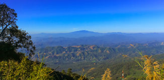 View of mountain at doi pui, Chaingmai Royalty Free Stock Photography