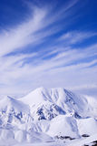 View from mountain Ejder, Palandoken resort Royalty Free Stock Image