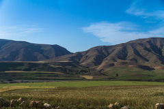 View of Mountain and Farm Royalty Free Stock Images