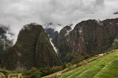 View of the mountain gorge in the city of the Incas Stock Photos