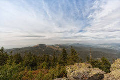 View from the mountain great arber. Bavaria Royalty Free Stock Image