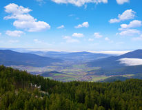 View from mountain Grosser Osser in National park Bavarian forest Stock Photography