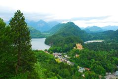 View on the Mountain in Hohenschwangau castles Royalty Free Stock Photos