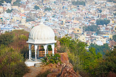 View from mountain. India, Udaipur Stock Photos