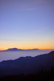 View of a mountain at Jawa Indonesia Royalty Free Stock Photo