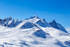 View of the mountain La Grande-Motte. Morning view of the mountain La Grande-Motte. Tignes, France Stock Photo