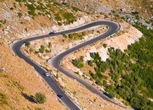 View of a mountain lacet road Royalty Free Stock Photography
