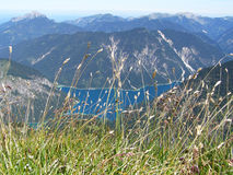 View of mountain lake from above Stock Photography
