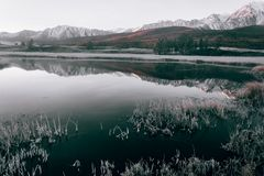 View of the mountain lake stock photography