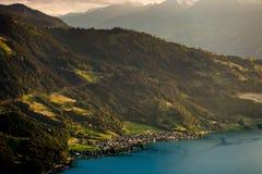 View of mountain and lake at Interlaken. Switzerland Stock Photos