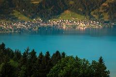 View of mountain and lake at Interlaken. Switzerland Royalty Free Stock Images