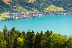 View of mountain and lake at Interlaken. Switzerland Royalty Free Stock Photography