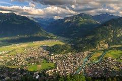 View of mountain and lake at Interlaken. Switzerland Stock Images