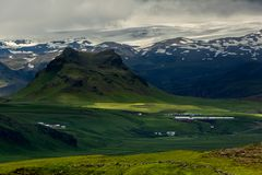 View at mountain landscape in Iceland Stock Photos
