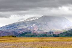 View at mountain landscape in Iceland Royalty Free Stock Photography
