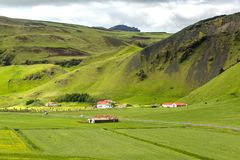 View at mountain landscape in Iceland Stock Images